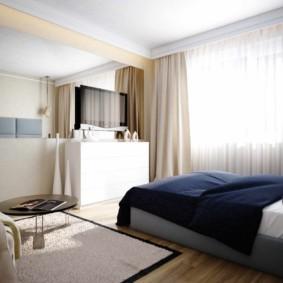 спальня площадью 5 на 5 метров виды идеи