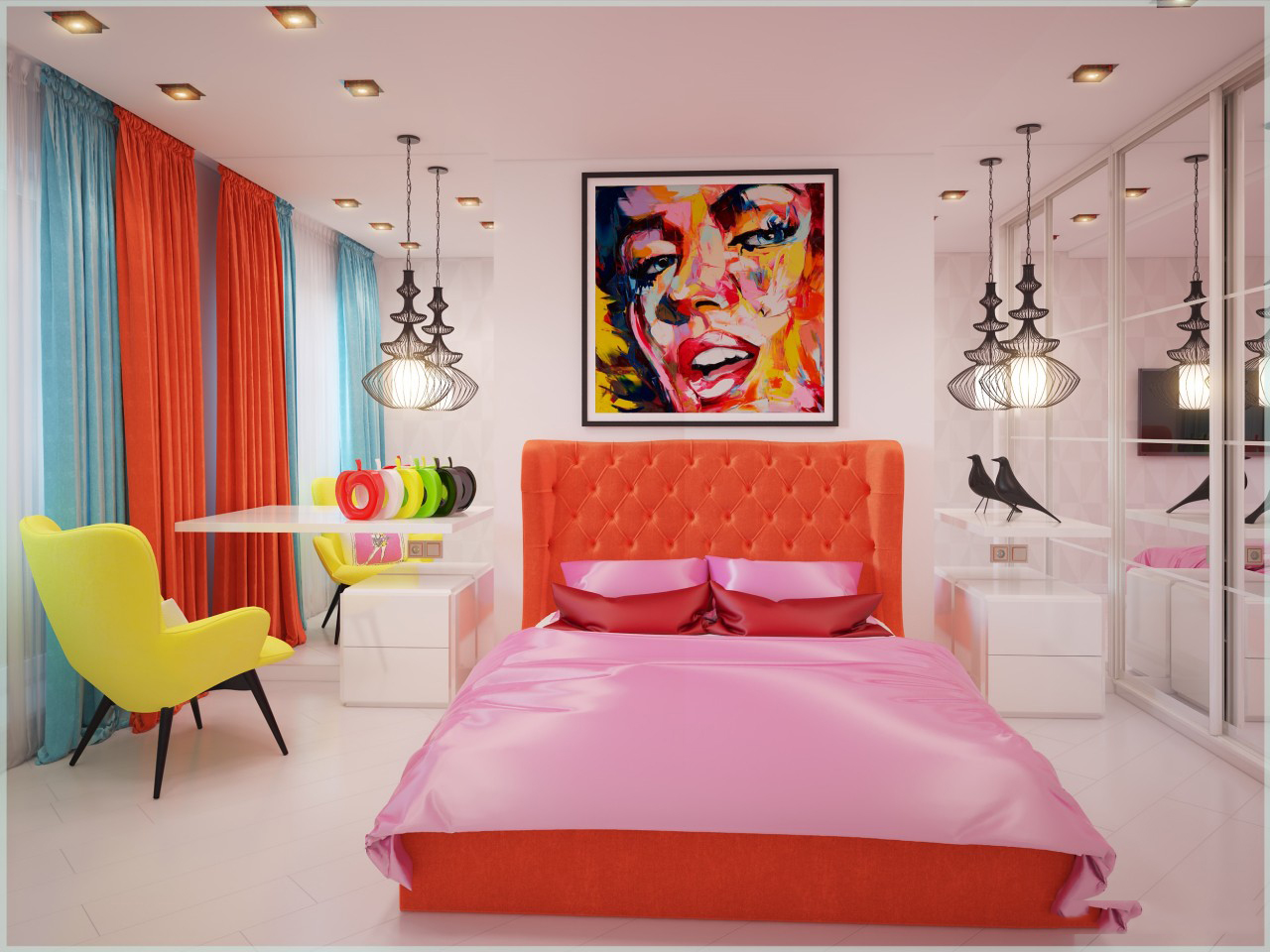 спальня площадью 5 на 5 метров дизайн идеи