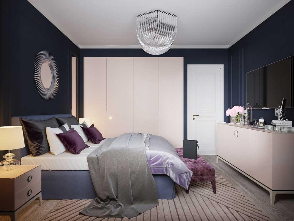 спальня площадью 5 на 5 метров гарнитур