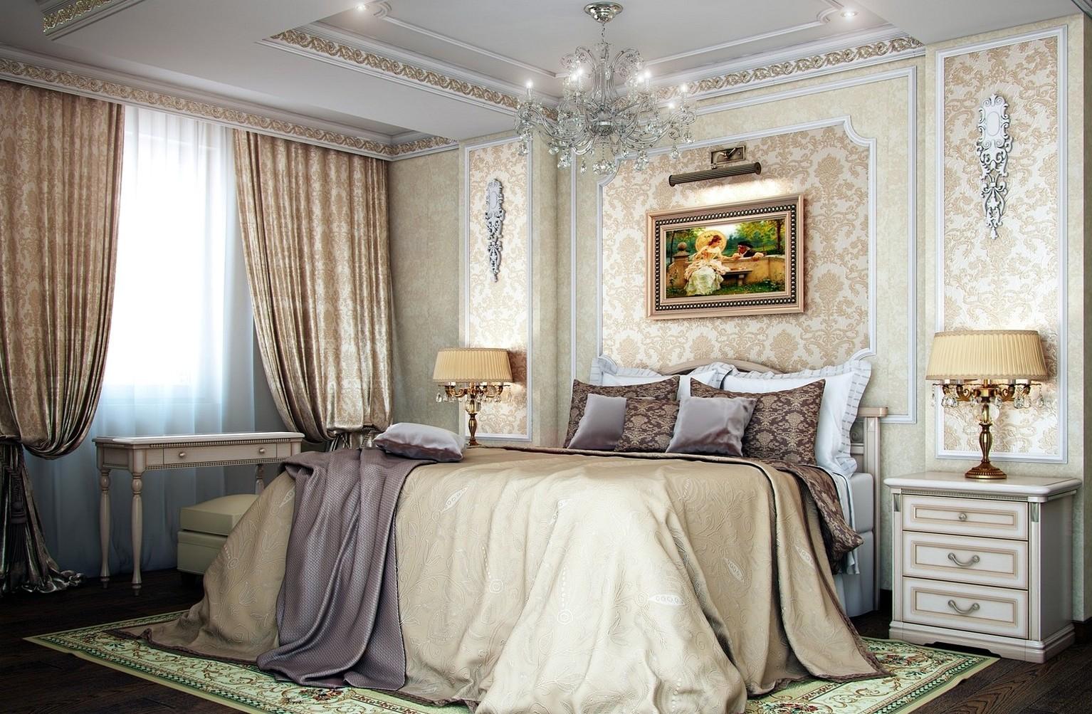 спальня площадью 5 на 5 метров классическая