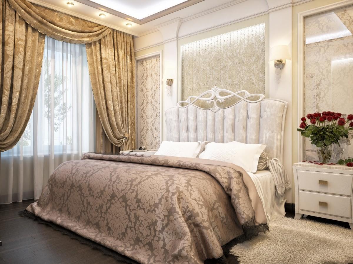 спальня площадью 5 на 5 метров классика