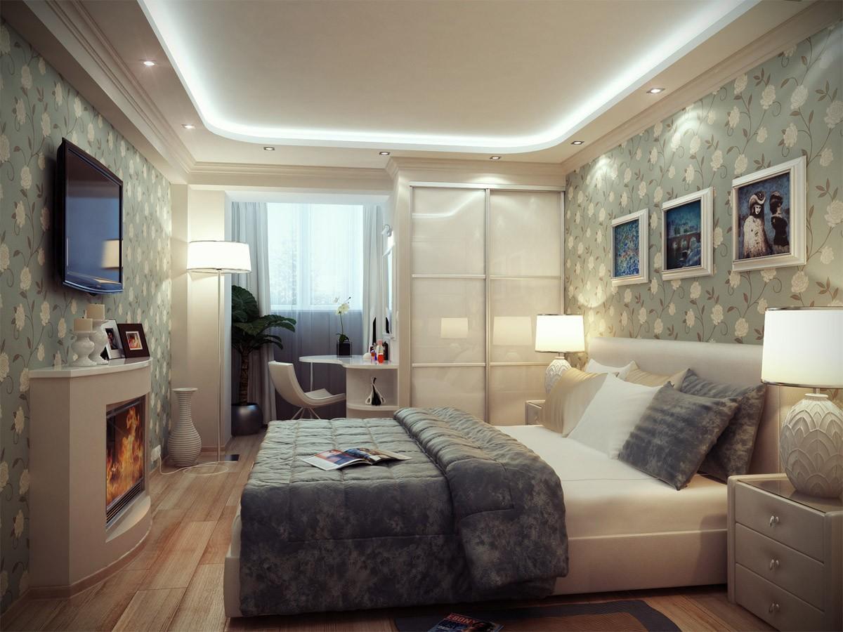 спальня площадью 5 на 5 метров мебель