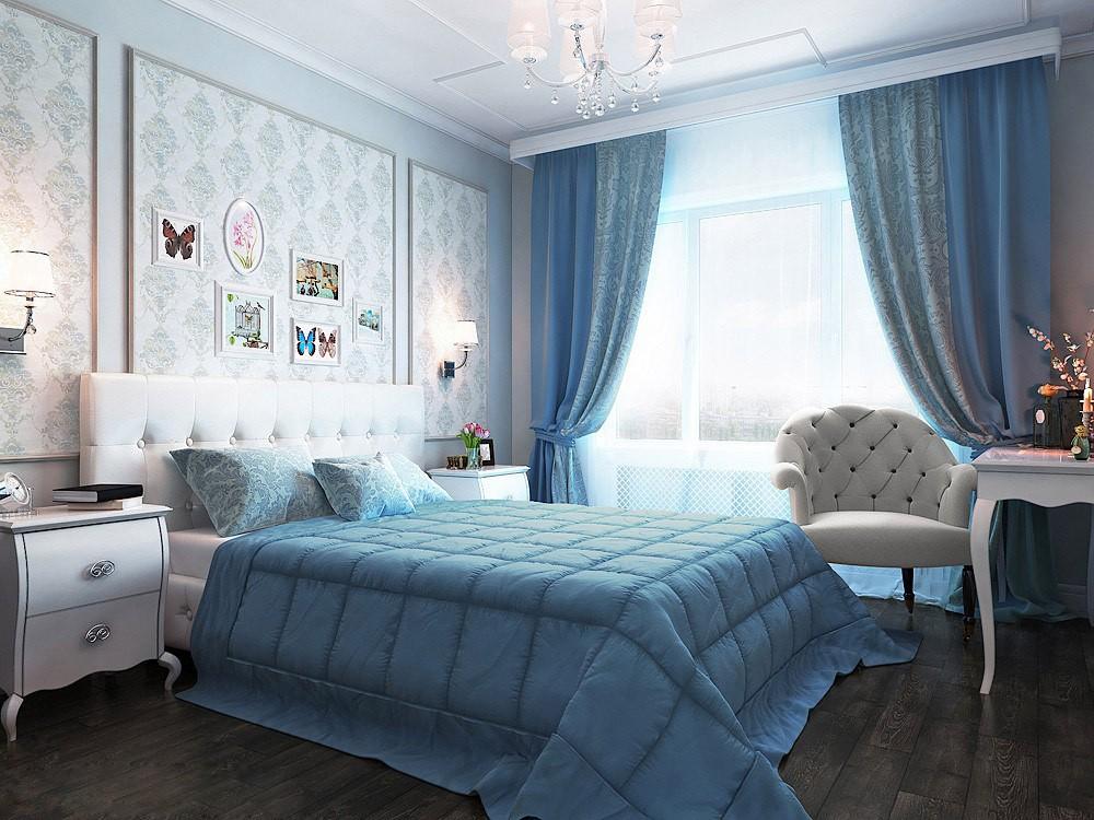 спальня площадью 5 на 5 метров прованс фото