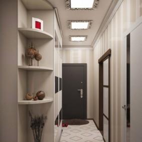 длинный узкий коридор в квартире варианты