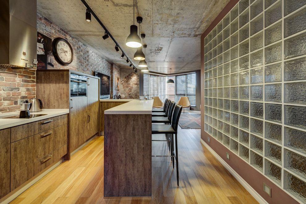 Дизайн кухни со стеклянными блоками