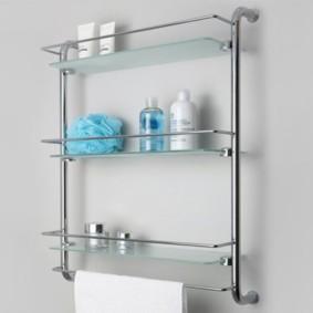 стеклянные полки для ванной комнаты фото
