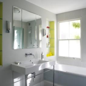 стеклянные полки для ванной комнаты декор идеи