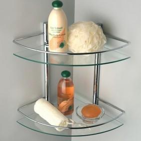 стеклянные полки для ванной комнаты идеи интерьер