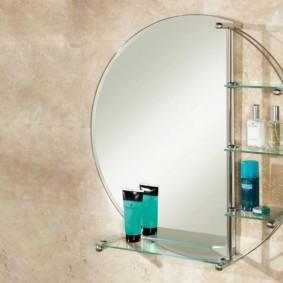 стеклянные полки для ванной комнаты идеи фото