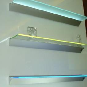 стеклянные полки для ванной комнаты идеи оформление