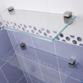 стеклянные полки для ванной комнаты фото варианты