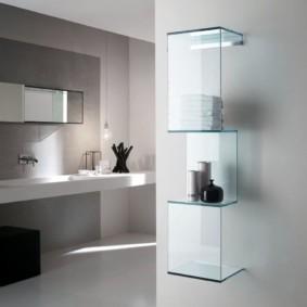 стеклянные полки для ванной комнаты фото вариантов