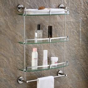стеклянные полки для ванной комнаты идеи варианты