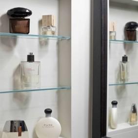 стеклянные полки для ванной комнаты фото идеи