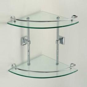 стеклянные полки для ванной комнаты виды фото