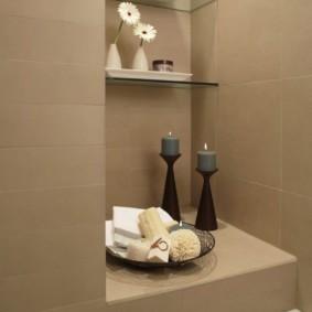 стеклянные полки для ванной комнаты фото видов