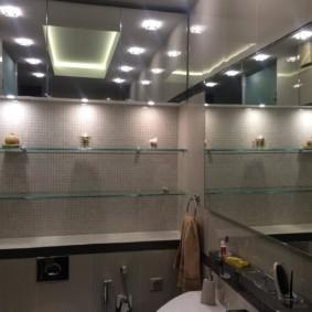 стеклянные полки для ванной комнаты идеи виды