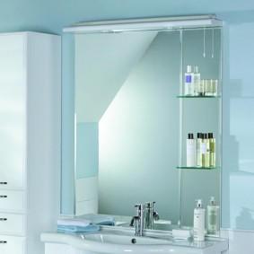 стеклянные полки для ванной комнаты виды декора