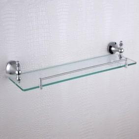стеклянные полки для ванной комнаты дизайн