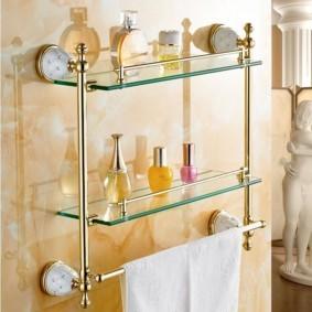 стеклянные полки для ванной комнаты фото дизайн