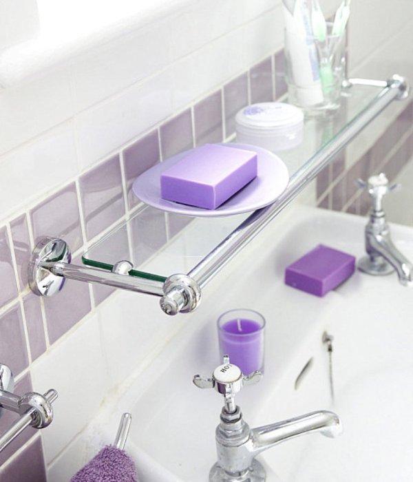 стеклянные полочки для ванной комнаты советы