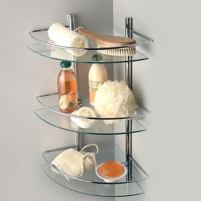 стеклянные полки в ванную варианты