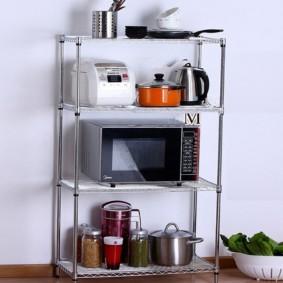 стальной стеллаж для кухни