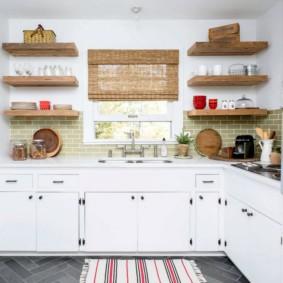 стеллаж для кухни фото интерьера