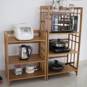 стеллаж для кухни фото дизайна