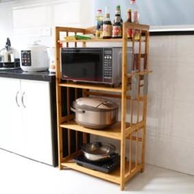 стеллаж для кухни фото декор