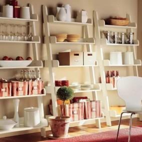 стеллаж для кухни декор идеи