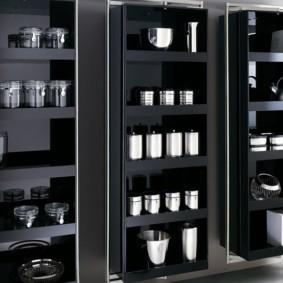 стеллаж для кухни черный