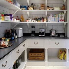 угловой стеллаж для кухни