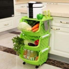 пластиковый стеллаж для кухни