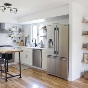 стеллаж для кухни с полками