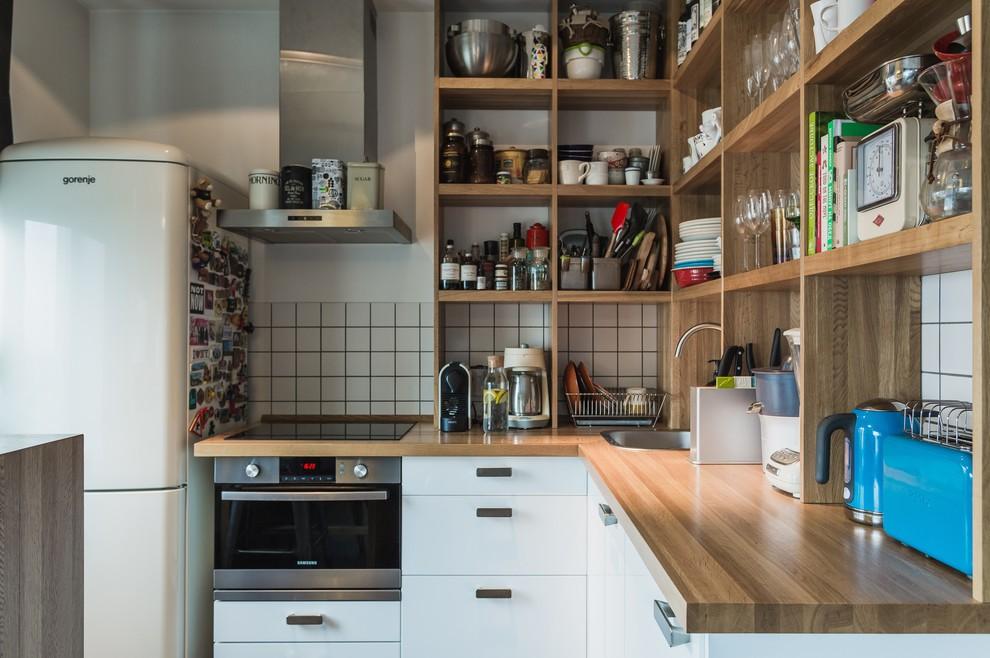 стеллаж для кухни угловой
