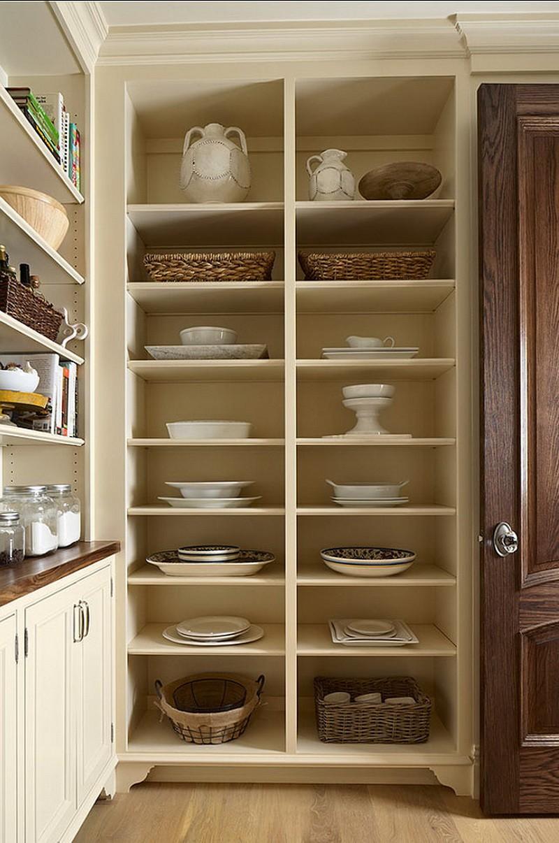 стеллаж для кухни в нише