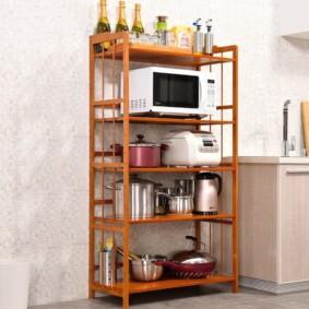стеллаж для кухни виды дизайна