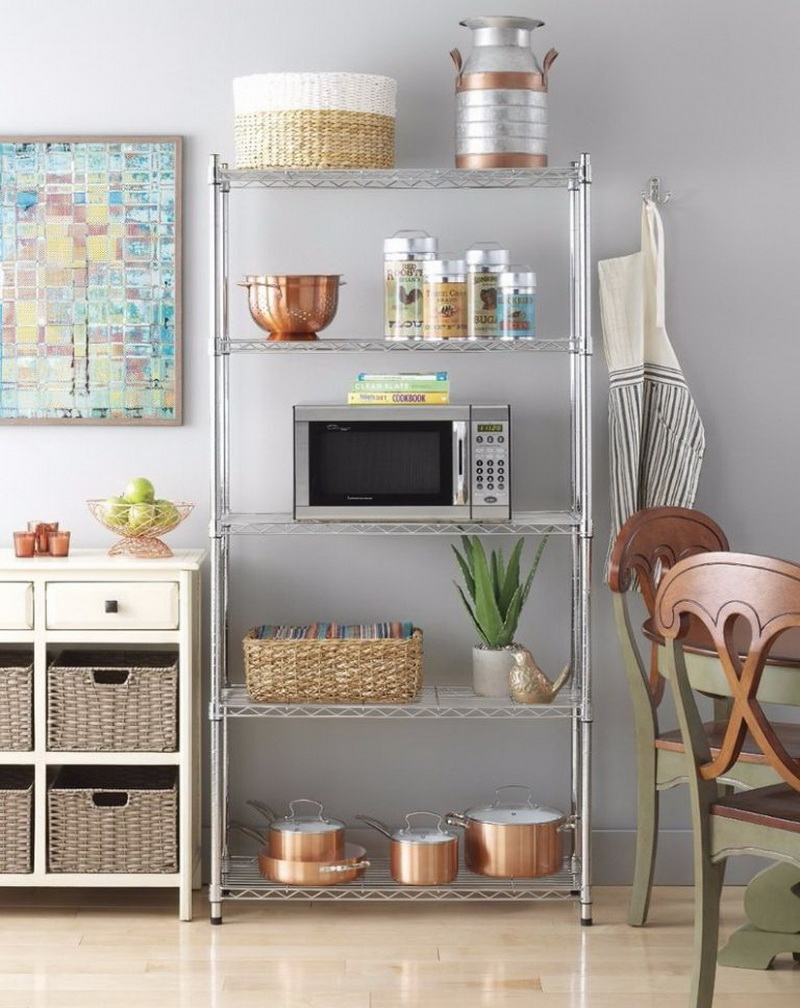 Картинки стеллажей на кухне