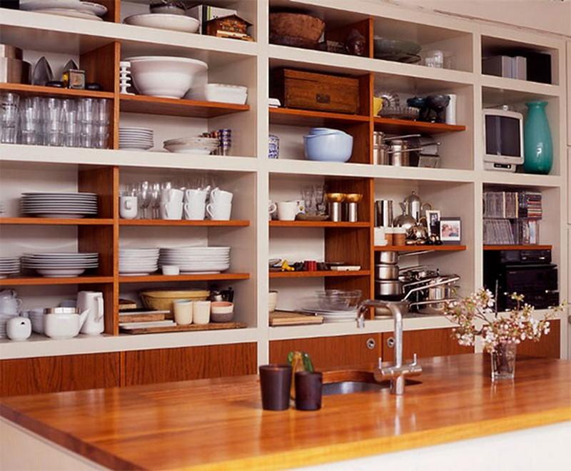 стеллаж для кухни встроенный