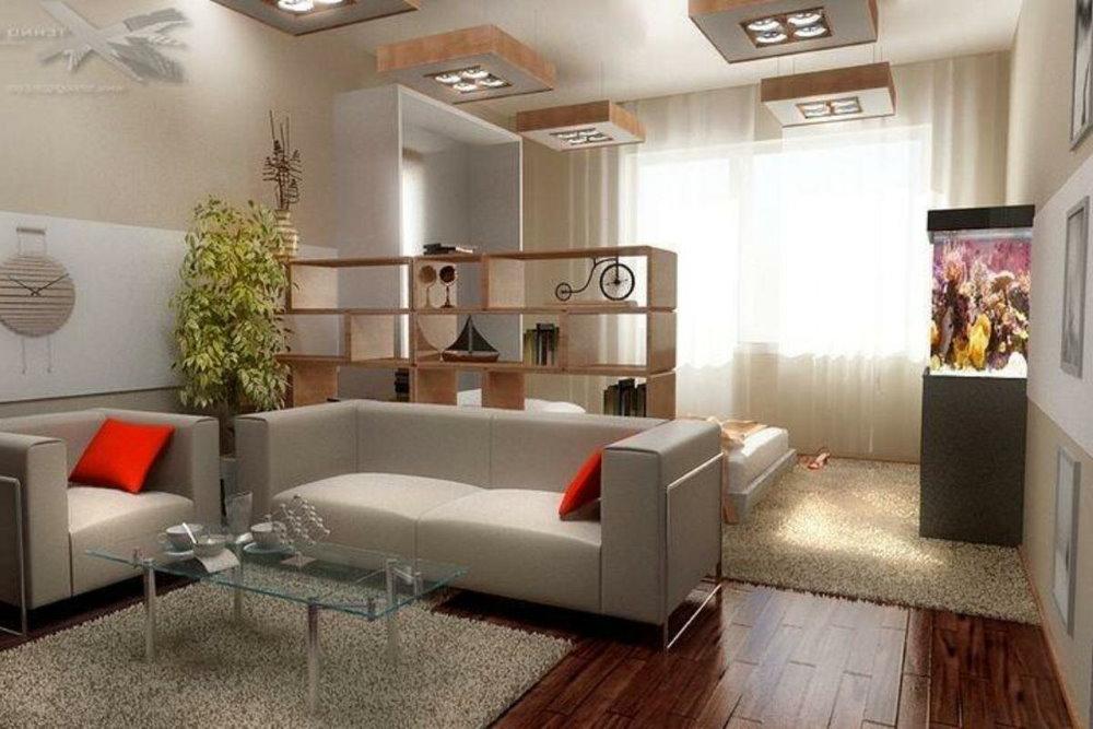 Зона отдыха в однушке многоэтажного дома