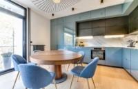 стол на одной ножке для кухни раскладной