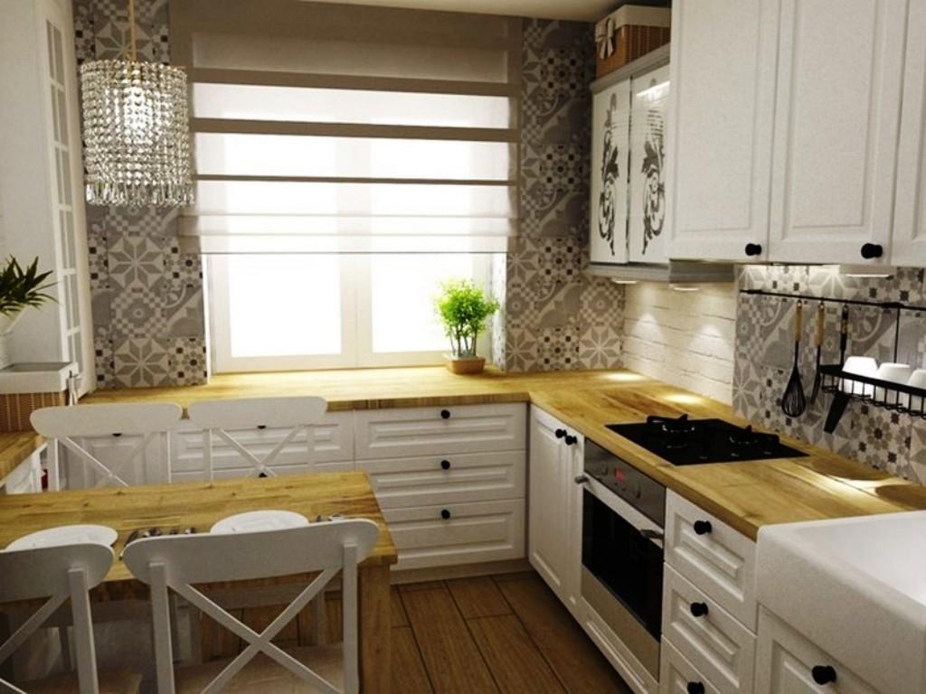 столешница с ящиками вместо подоконника на кухне