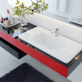 столешница в ванную виды дизайна