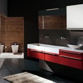 столешница в ванную виды декора