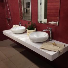 столешница в ванную идеи