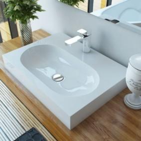 столешница в ванную интерьер идеи