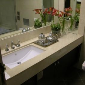 столешница в ванную декор