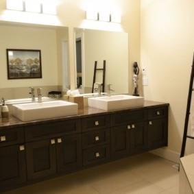 столешница в ванную декор фото