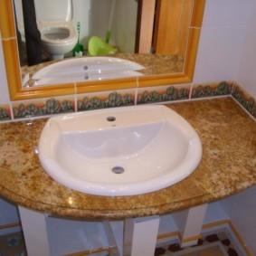 столешница в ванную интерьер